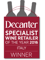 Decanter - Specialist Wine Retailer of the Year 2016 - Italy