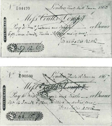 Charles Dickens Cheque