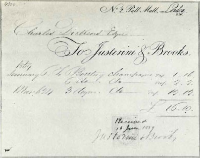 Charles Dickens Invoice