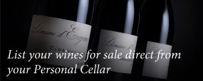 List your wines for sale direct from your Personal Cellar